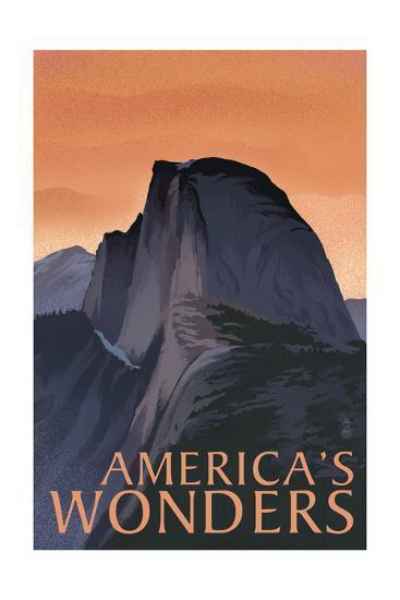 America's Wonders - National Park WPA Sentiment-Lantern Press-Art Print