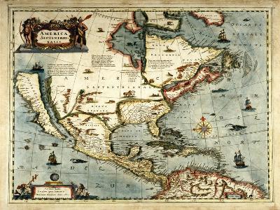 America Septentrionalis-Jan Jansson-Giclee Print