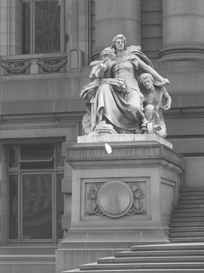 America' Statue Outside the Custom House, New York City, C.1912-William Davis Hassler-Photographic Print