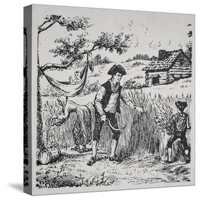 A Family Harvesting Corn (Litho)