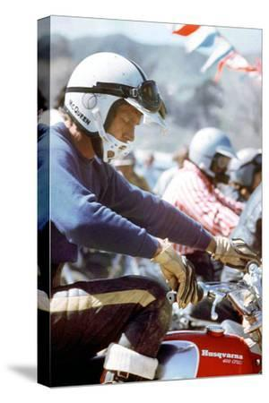American Actor Steve Mac Queen Taking Part into a Cross Sponsored by Husqvarna C. 1971