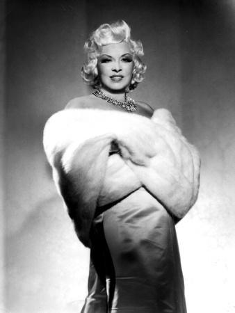American Actress Mae West (1892-1980) with Fur Stole C. 1940--Photo