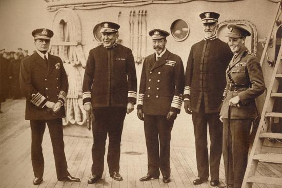 American admirals afloat with the King, 1918 (1935)-Unknown-Photographic Print