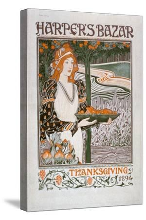 Advertisement for the Thanksgiving Edition of 'Harper's Bazar', 1894 (Colour Litho)