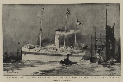 American Aid for the Wounded, the Hospital Ship Maine Lying Off Gravesend-Charles Edward Dixon-Giclee Print