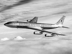 American Airline's Boeing Astrojet in Flight, 1964