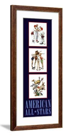 American All Stars-Norman Rockwell-Framed Art Print