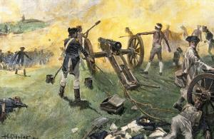 American Artillery Engaged at the Battle of Monmouth, New Jersey, c.1778