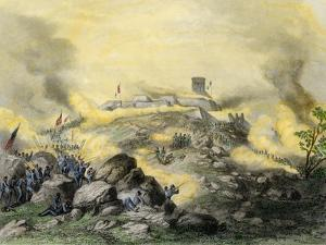 American Assault on the Fortress of Chapultepec, U.S.-Mexican War, c.1847