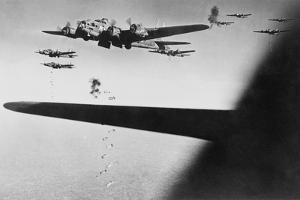 American B-17S Drop Bombs over Meudon