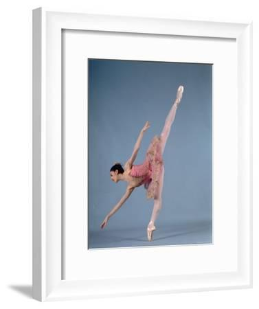 """American Ballet Theater Ballerina Paloma Herrera in Graceful Move Ballet """"Themes and Variations""""-Ted Thai-Framed Premium Photographic Print"""