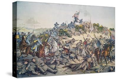 Battle of Nashville, December 15-16Th, 1864, Engraved by Kurz and Allison, 1891 (Colour Litho)