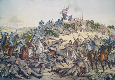 Battle of Nashville, December 15-16Th, 1864, Engraved by Kurz and Allison, 1891 (Colour Litho)