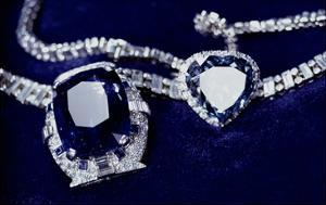Bismarck Necklace and Empress Eugenie's (1826-1920) Ring (Diamond, Sapphire and Platinum) by American