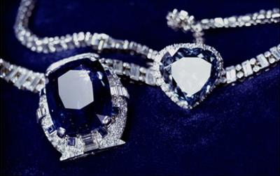 Bismarck Necklace and Empress Eugenie's (1826-1920) Ring (Diamond, Sapphire and Platinum)