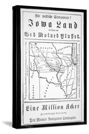Broadside Published in German by the Des Moines Navigation Company to Attract Immigrants to Iowa