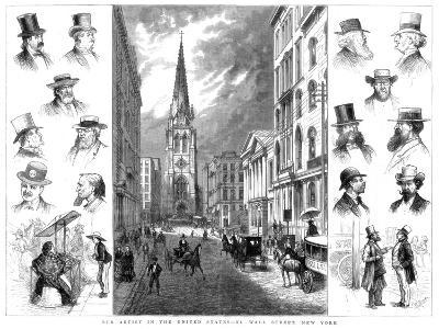 American Businessmen and Wall Street, New York, USA, 1877--Giclee Print