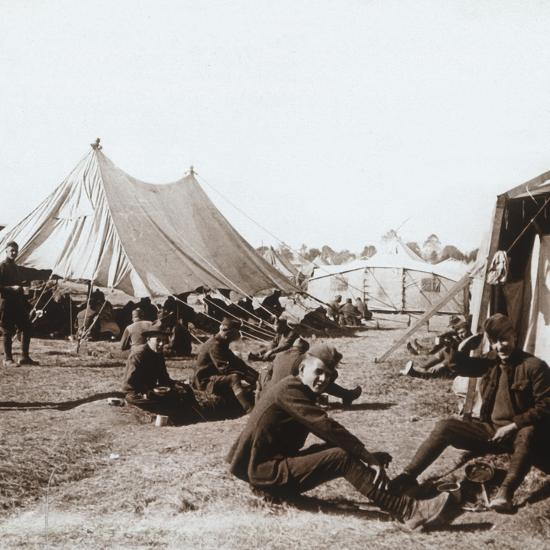 American camp, Melette, France, c1914-c1918-Unknown-Photographic Print