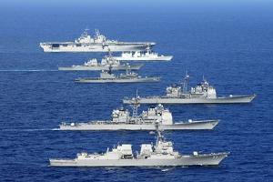 American, Canadian, and Japanese Navy War Ships in the Pacific Exercises, July 2008