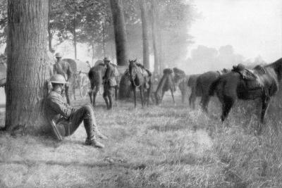American Cavalry Unit at Rest, Chemin Des Dames, France, 1918--Giclee Print