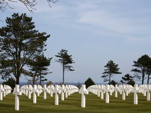 American Cemetery at Omaha Beach, Colleville-Sur-Mer, Normandy, France, Europe