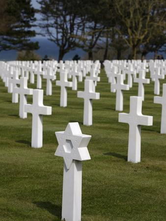 American Cemetery at Omaha Beach, Colleville-Sur-Mer, Normandy, France, Europe--Photographic Print