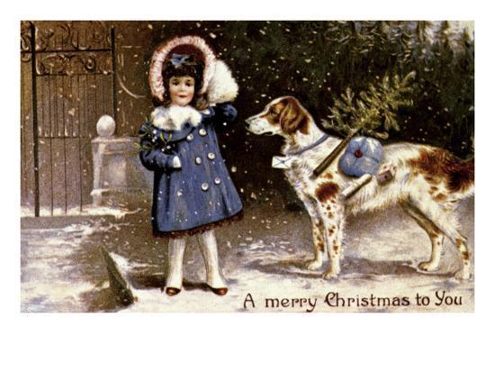 American Christmas Card--Giclee Print