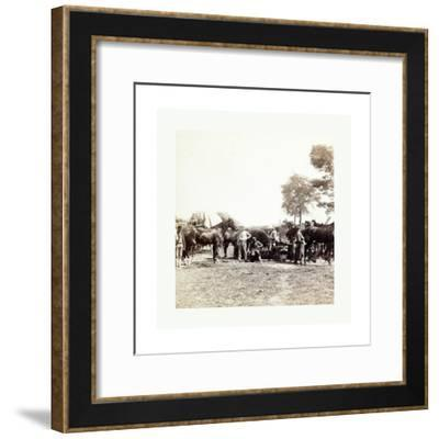 American Civil War: Army Blacksmith and Forge--Framed Giclee Print