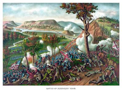 American Civil War Print Featuring the Battle of Missionary Ridge--Art Print