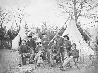 American Civil War Soldiers at their Encampment-Stocktrek Images-Photographic Print