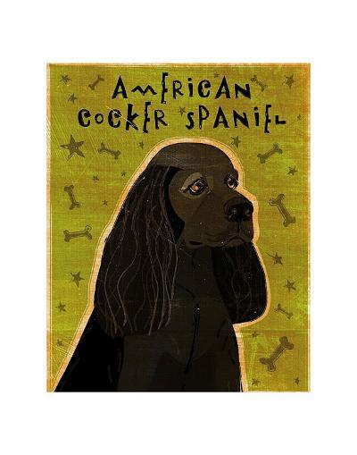 American Cocker Spaniel (black)-John Golden-Art Print