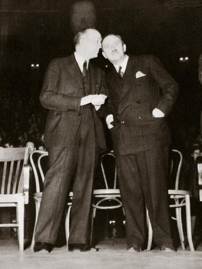 American Communist leaders William Foster and Earl Browder, 1940-Unknown-Photographic Print