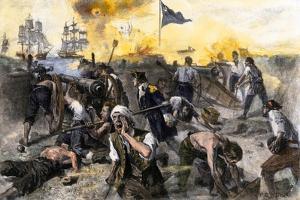 American Defense of Fort Moultrie on Sullivan's Island, Charleston Sc, 1776