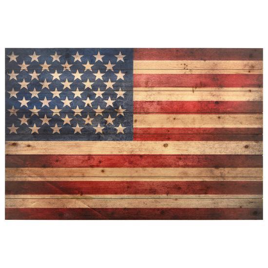 """American Dream"" Arte de Legno Digital Print on Solid Wood Wall Art--Alternative Wall Decor"
