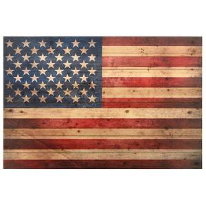 """American Dream"" Arte de Legno Digital Print on Solid Wood Wall Art"