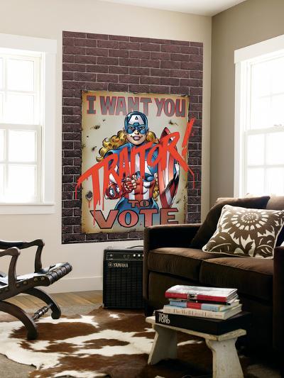American Dream No.3 Cover: American Dream-Ron Frenz-Wall Mural