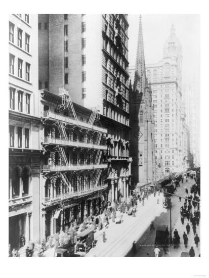 American Express Building on Broadway North NYC Photo - New York, NY-Lantern Press-Art Print
