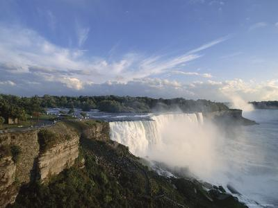 American Falls in Foreground, with Horseshoe Falls in the Background-Robert Francis-Photographic Print