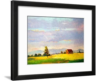 American Farm Landscape Early Evening-Suren Nersisyan-Framed Art Print