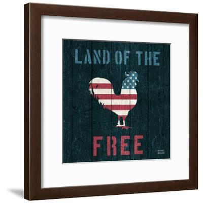 American Farm Rooster-Michael Mullan-Framed Art Print