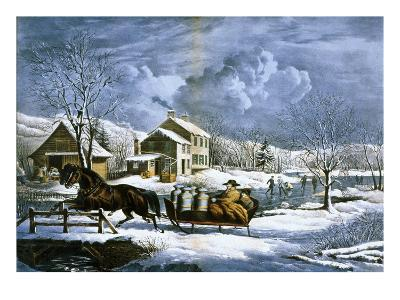 American Farm Scenes No. 4:-Currier & Ives-Giclee Print