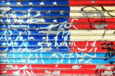 American Flag Graffiti-Sabine Jacobs-Photographic Print