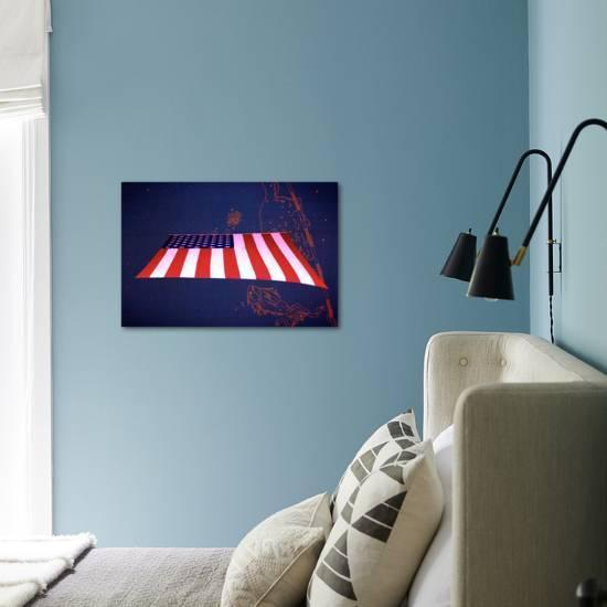 American Flag In Grand Central Station Nyc Photo Art Com