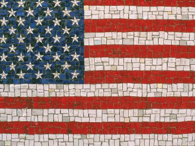 American Flag in Mosaic-Rudi Von Briel-Photographic Print