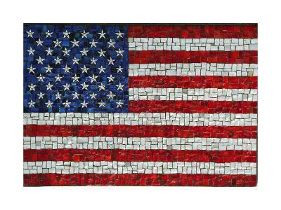 American Flag In Mosaic-Leonard Zhukovsky-Art Print