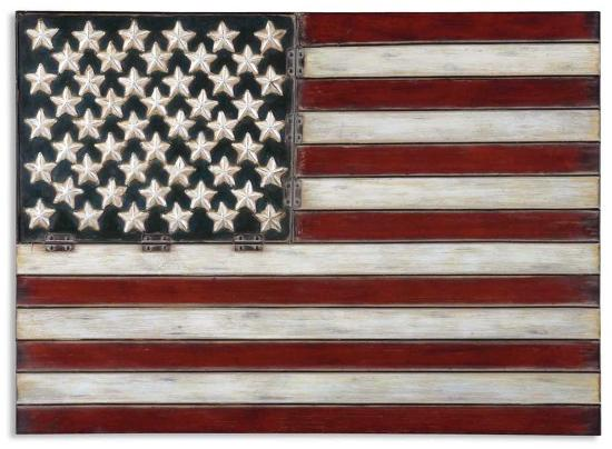 American Flag Metal Wall Art Alternative Wall Decor by   Art com