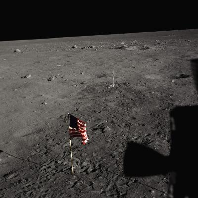 American Flag on the Moon--Photographic Print