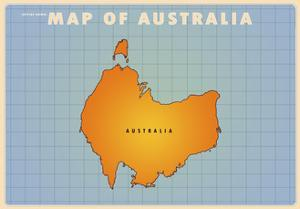 Map Of Australia Upside Down.Beautiful Maps Of Australia Artwork For Sale Posters And Prints
