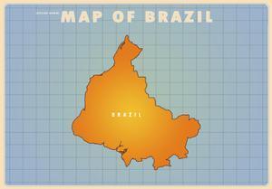 Upside Down Brazil by American Flat