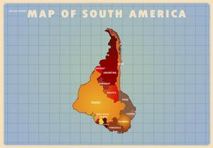 Upside Down South America by American Flat
